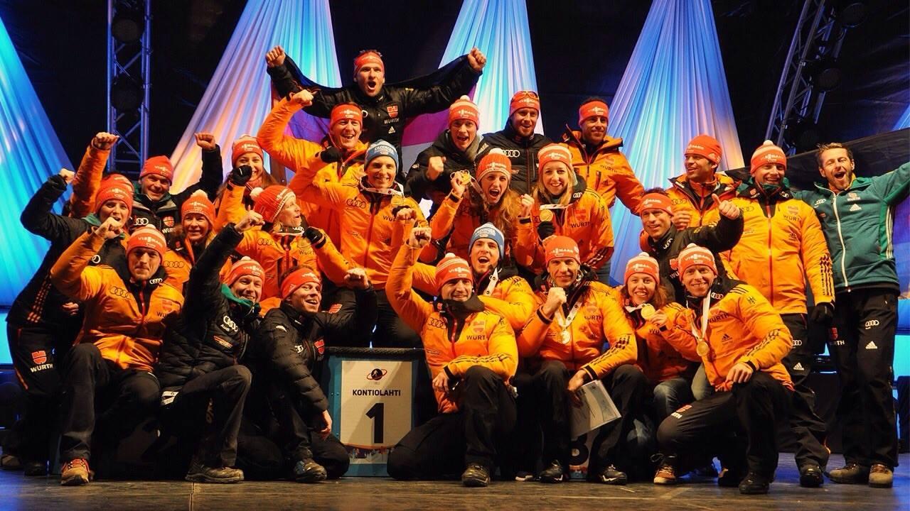 Erfolge: Weltmeisterschaft 2015 - Biathlon Team
